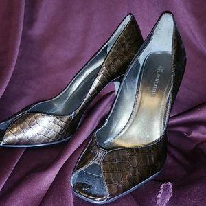 Anne Klein open toe pumps